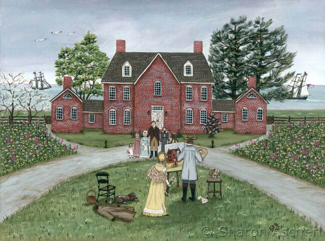 The Gibson Family of Sandy Point Farm, Maryland, 1814